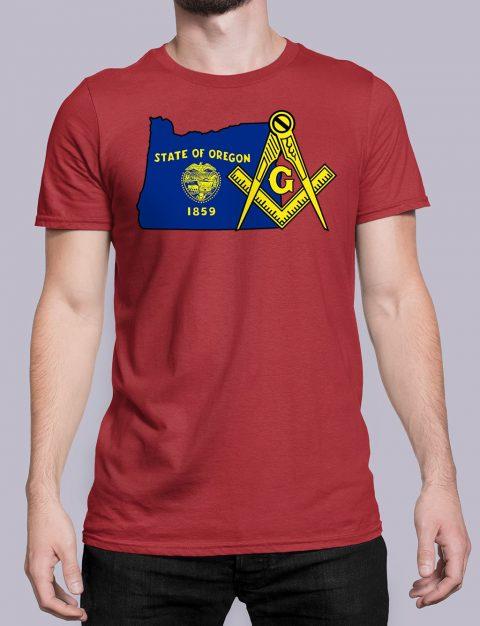 Oregon Masonic Tee Oregon red shirt