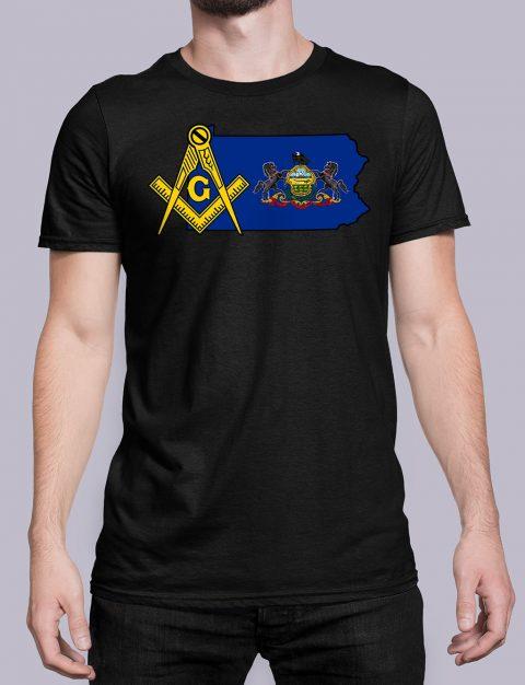 Pennsylvania Masonic Tee Pennsylvania black shirt
