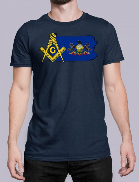 Pennsylvania Masonic Tee Pennsylvania navy shirt