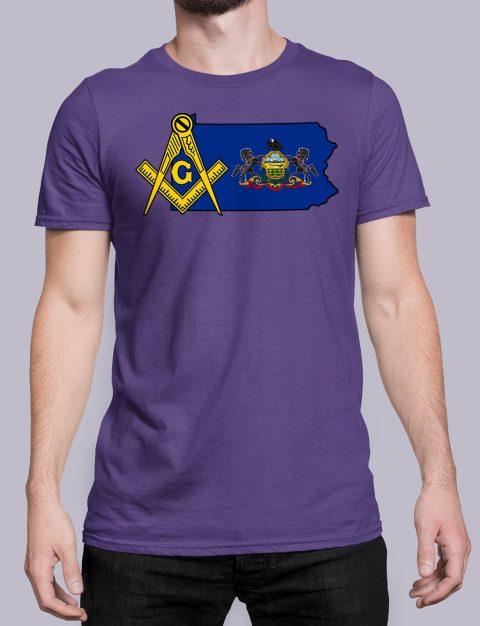 Pennsylvania Masonic Tee Pennsylvania purple shirt