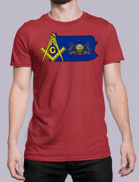 Pennsylvania Masonic Tee Pennsylvania red shirt