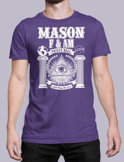 Prince Hall F&AM Masonic T-Shirt Prince Hall FAM purple shirt 29