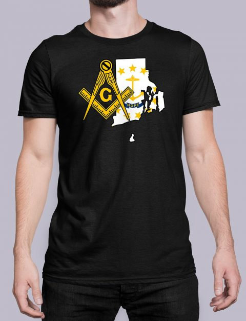 Rhode Island Masonic Tee Rhode Island black shirt