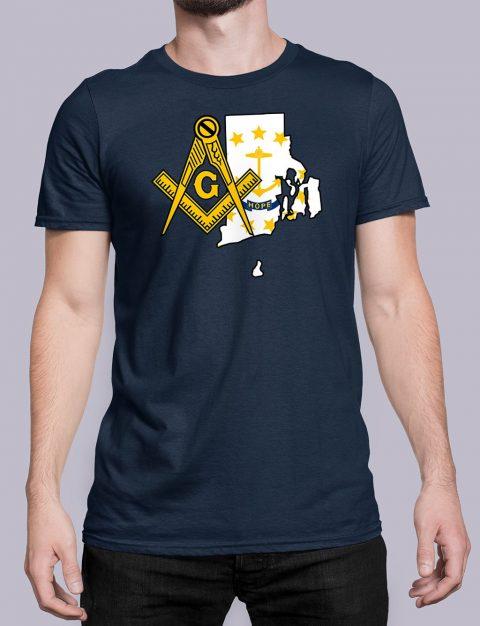 Rhode Island Masonic Tee Rhode Island navy shirt