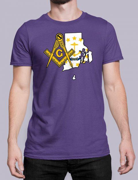 Rhode Island Masonic Tee Rhode Island purple shirt