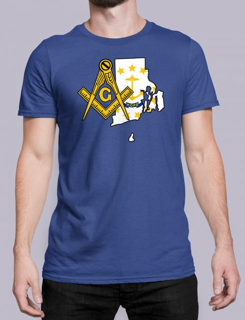 Rhode Island Masonic Tee Rhode Island royal shirt