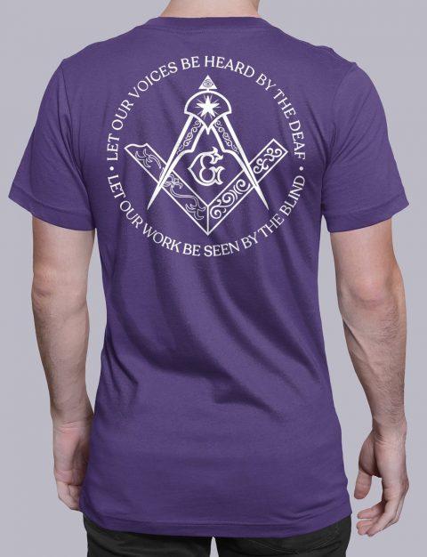 Sacred Work Masonic T-shirt Back Sacred Work back purple shirt back 9