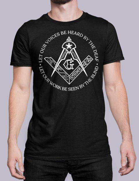 Sacred Work Masonic T-shirt Sacred Work front black shirt 31