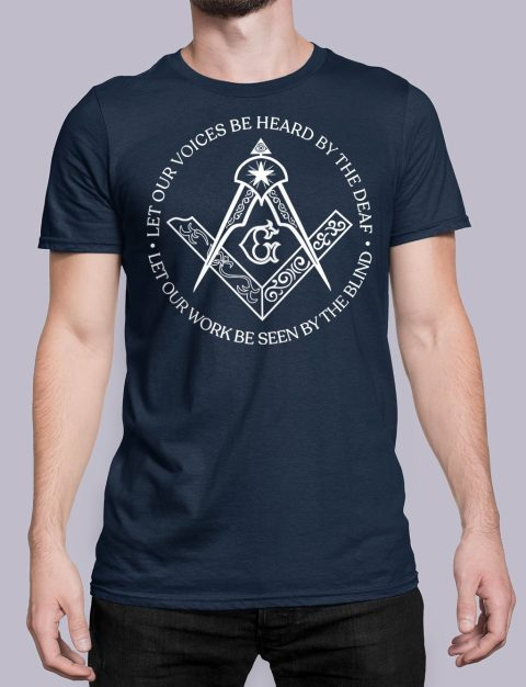 Sacred Work Masonic T-shirt Sacred Work front navy shirt 31