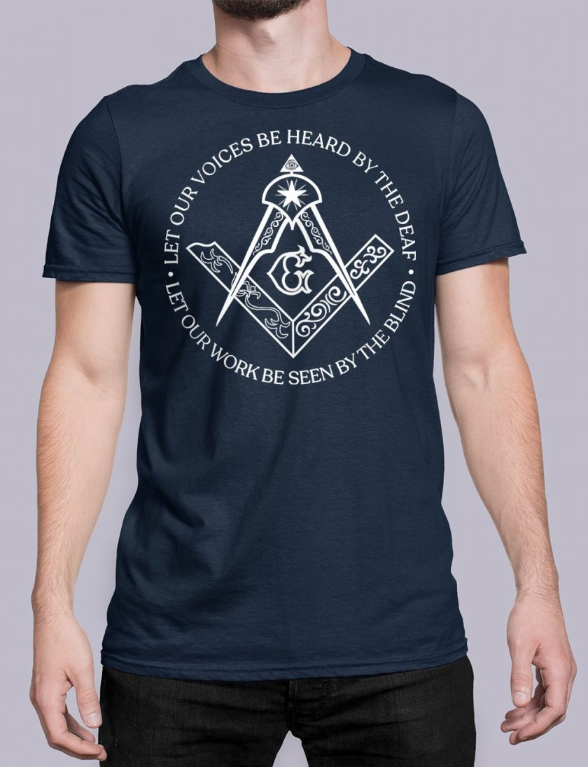 Sacred Work front navy shirt 31