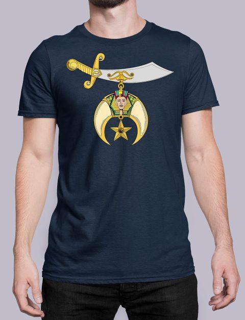 Shriners T-shirt Shriners navy shirt 32