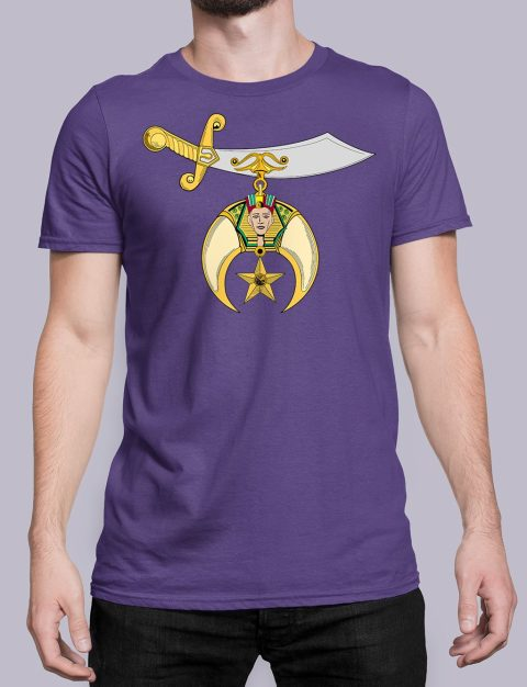 Shriners T-shirt Shriners purple shirt 32