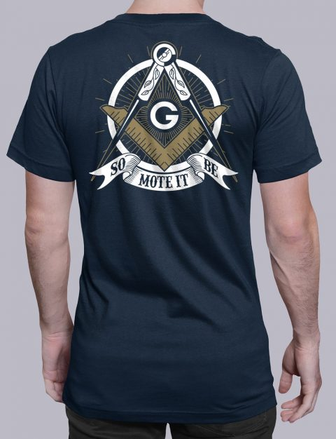 So Mote It Be Masonic T-Shirt So Mote It Be navy shirt back 10