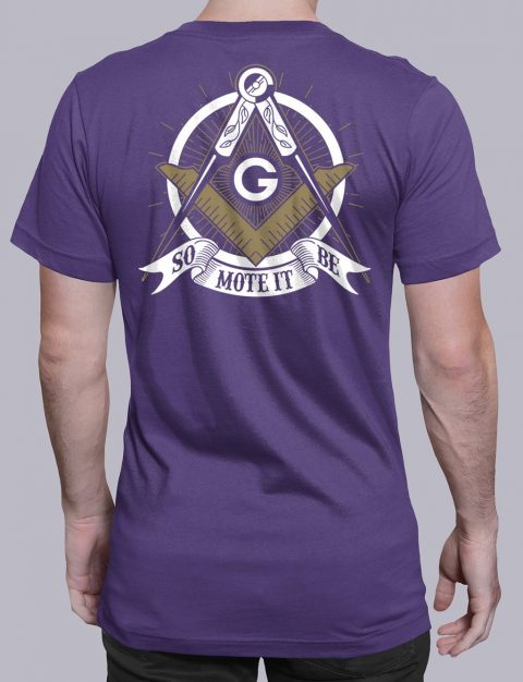 So Mote It Be Masonic T-Shirt So Mote It Be purple shirt back 10