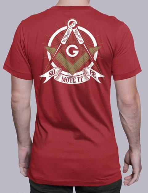 So Mote It Be Masonic T-Shirt So Mote It Be red shirt back 10