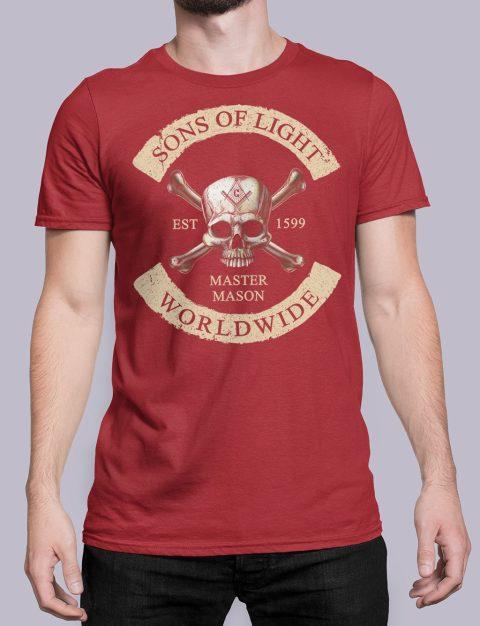 Son Of Light Worldwide Masonic T-shirt Son Of Light Worldwide red shirt 33