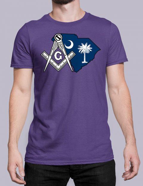 South Carolina Masonic Tee South Carolina purple shirt