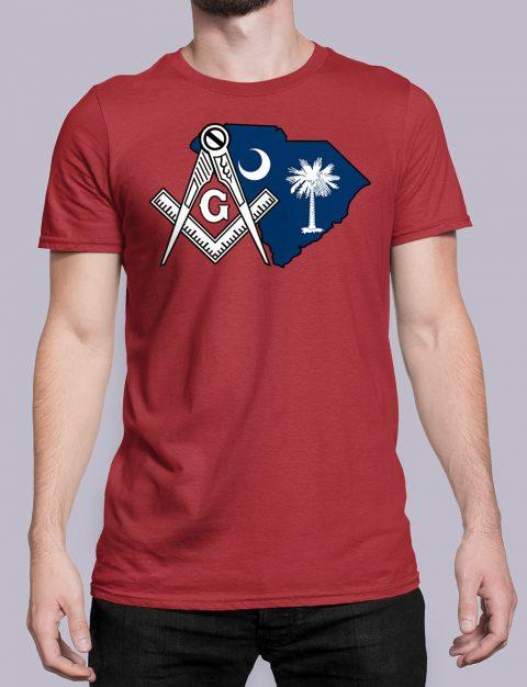 South Carolina Masonic Tee South Carolina red shirt