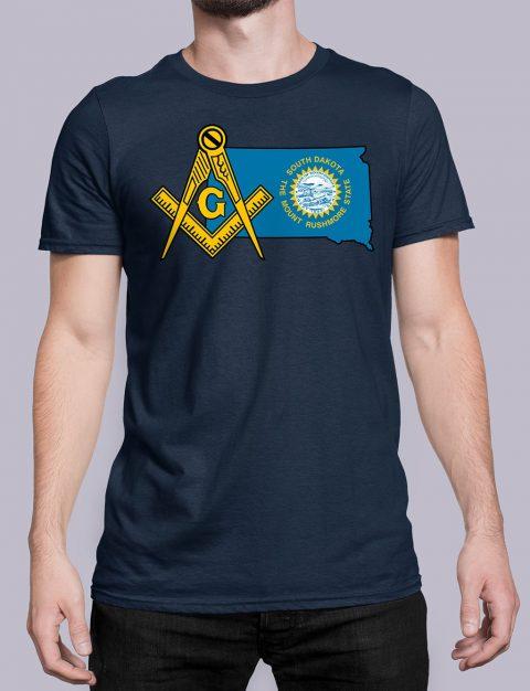 South Dakota Masonic Tee South Dakota navy shirt