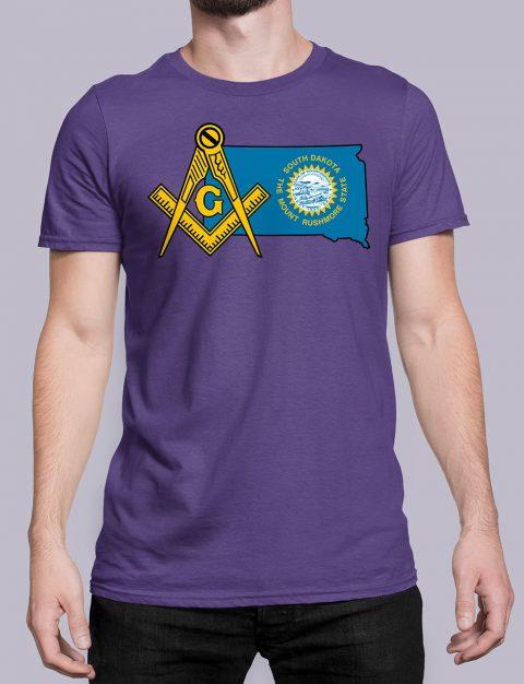 South Dakota Masonic Tee South Dakota purple shirt