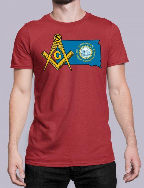 South Dakota Masonic Tee South Dakota red shirt