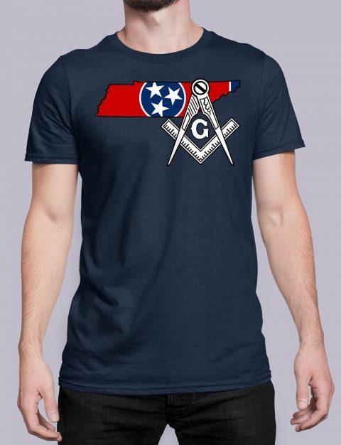Tennessee Masonic Tee Tennessee navy shirt