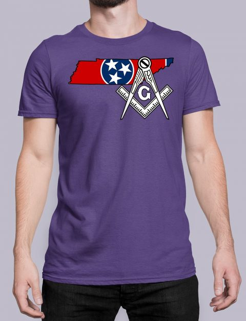 Tennessee Masonic Tee Tennessee purple shirt