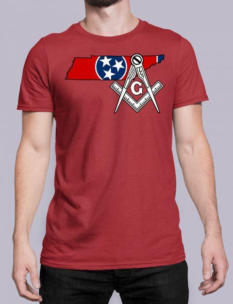 Tennessee Masonic Tee Tennessee red shirt