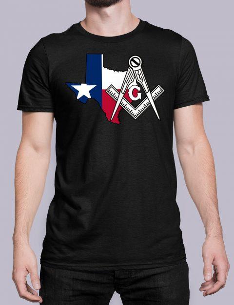 Texas Masonic Tee Texas black shirt
