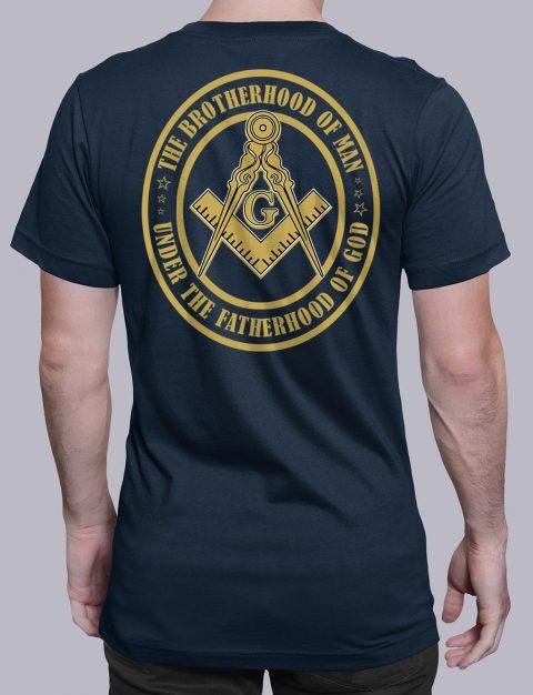 The Brothehood Of Man Back The Brothehood Of Man back navy shirt back 12