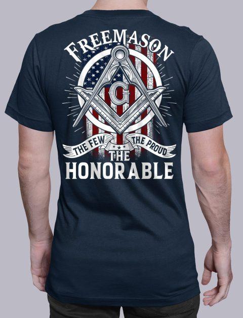 The Honorable Masonic T-shirt The Honorable navy shirt back 13
