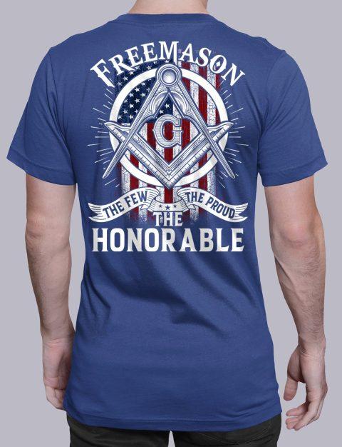 The Honorable Masonic T-shirt The Honorable royal shirt back 13