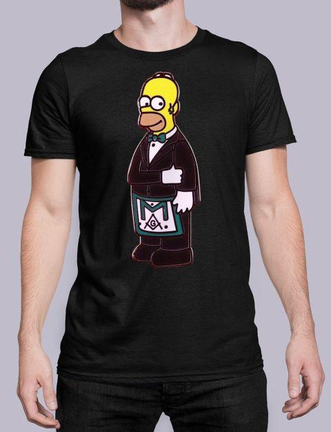 The Simpsons Homer Freemason T-Shirt The Simpsons Homer black shirt 36
