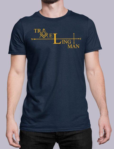 Traveling Man Masonic T-shirt Traveling Man navy shirt 38