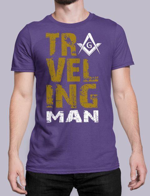 Traveling Man T-Shirt Traveling man masonic purple shirt 39