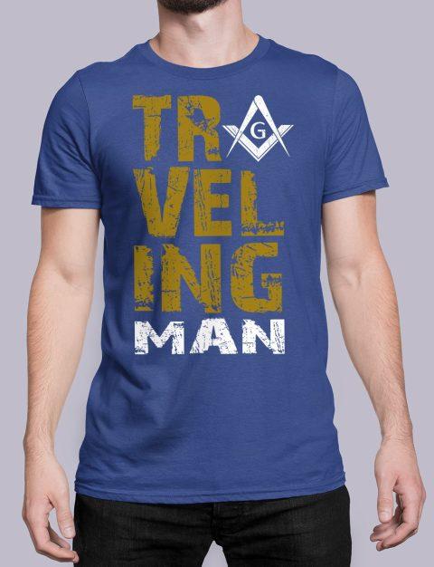 Traveling Man T-Shirt Traveling man masonic royal shirt 39