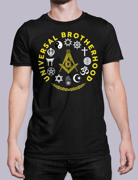 Universal Brotherhood Masonic T-Shirt Universal Brotherhood black shirt 40
