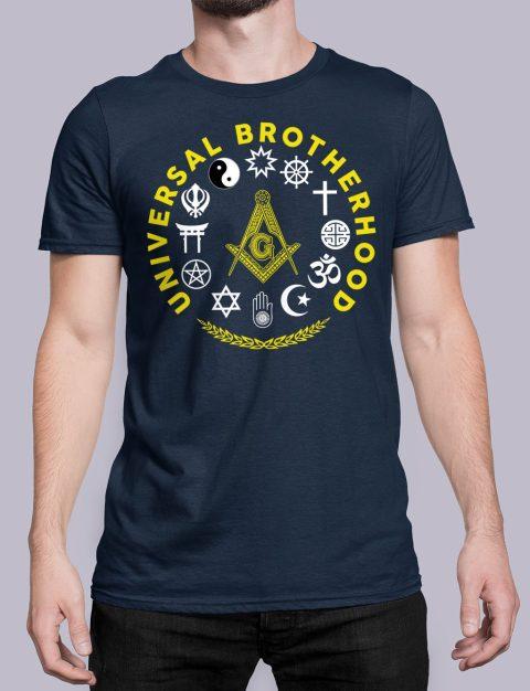 Universal Brotherhood Masonic T-Shirt Universal Brotherhood navy shirt 40
