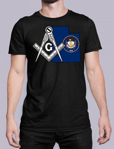 Utah Masonic Tee Utah black shirt
