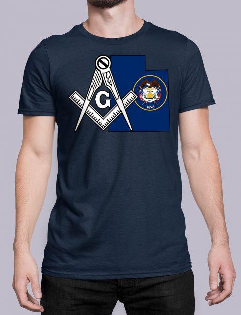 Utah Masonic Tee Utah navy shirt