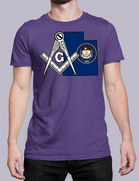 Utah Masonic Tee Utah purple shirt