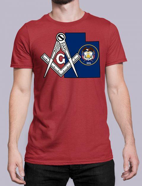 Utah Masonic Tee Utah red shirt