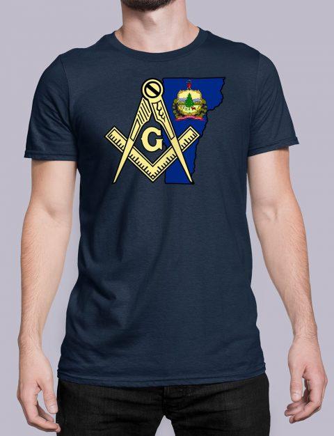 Vermont Masonic Tee Vermont navy shirt