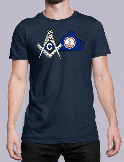 Virginia Masonic Tee Virginia navy shirt