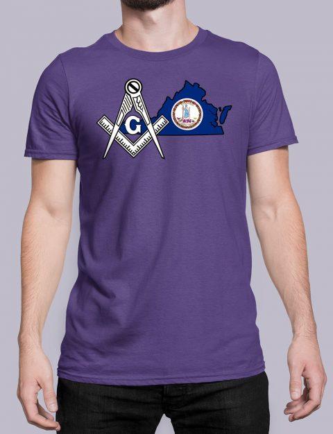 Virginia Masonic Tee Virginia purple shirt