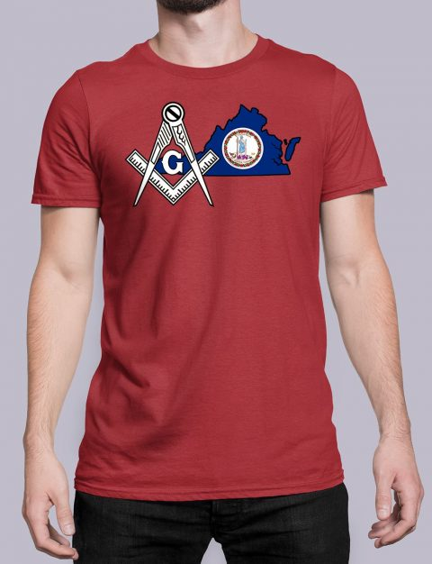 Virginia Masonic Tee Virginia red shirt