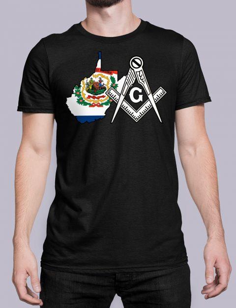 West Virginia Masonic Tee West Virginia black shirt