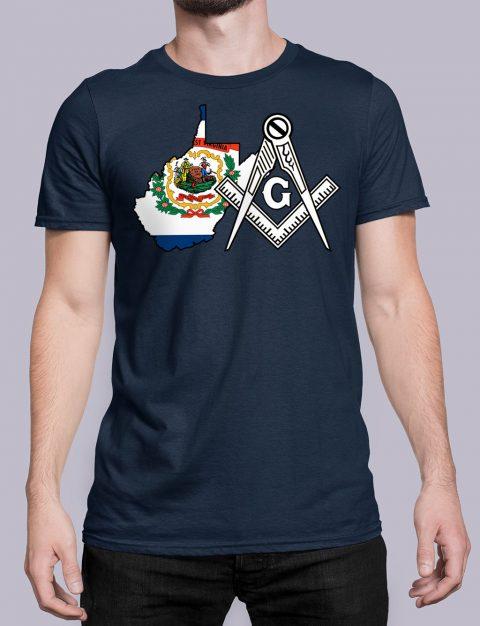 West Virginia Masonic Tee West Virginia navy shirt