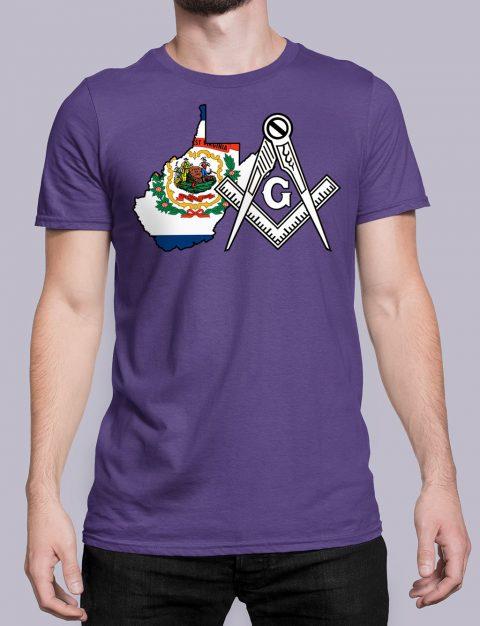 West Virginia Masonic Tee West Virginia purple shirt