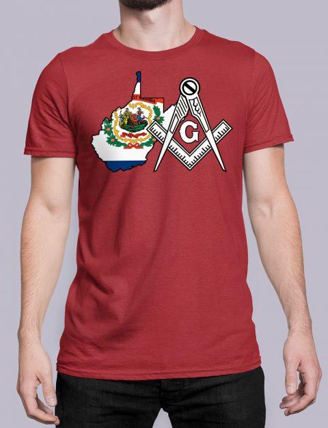 West Virginia Masonic Tee West Virginia red shirt